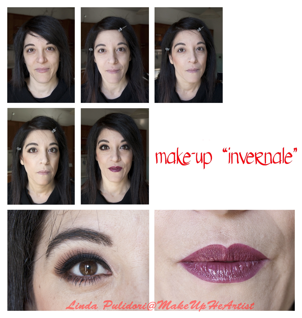 make up invernale step by step