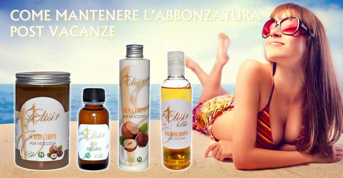 mantenere abbronzatura fine estate cosmetica cosmesi post vacanza