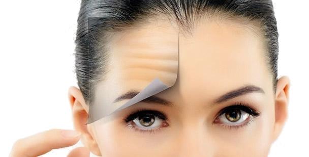 rughe fronte viso donna