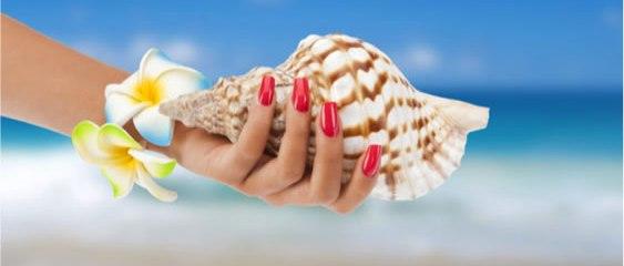 unghie estate mare spiaggia conchiglia