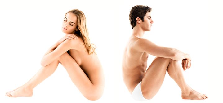 uomo donna coppia nudi corpo