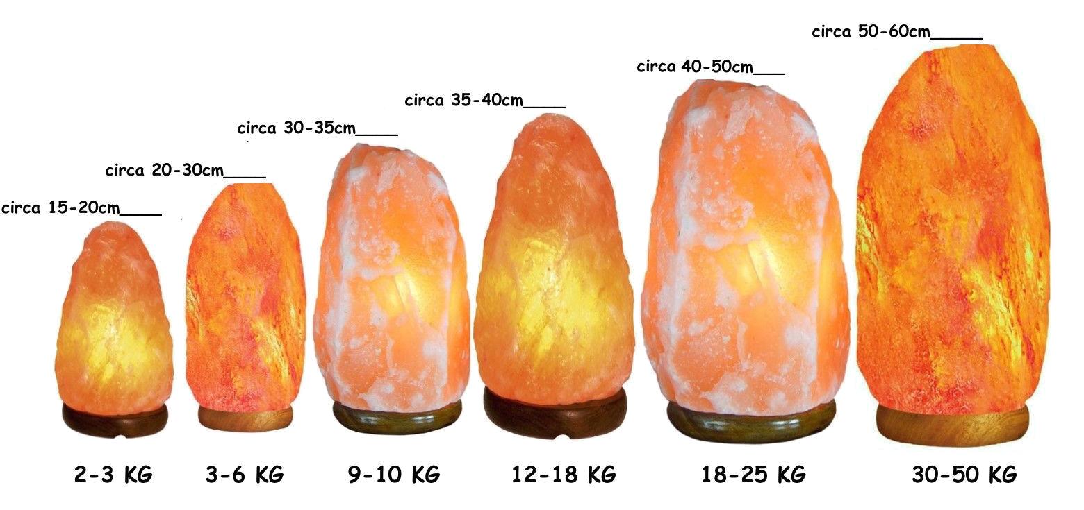 lampade sale himalaya grezze naturali dimensioni altezza