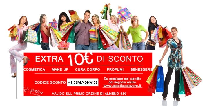 omaggio 10€ sconto promozione codice sconto