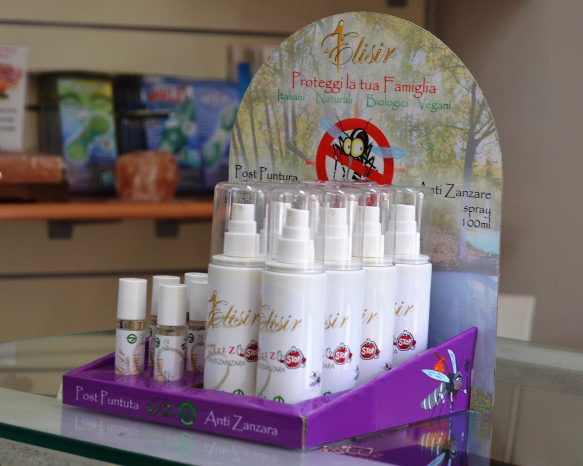espositore cartone anti zanzare post-puntura naturali negozi attività commerciali